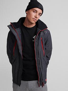 Superdry Superdry Hooded Polar Sd Windattacker Jacket - Dark Grey Picture