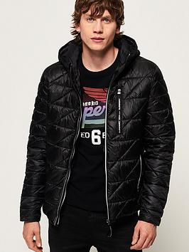 Superdry Superdry Diagonal Quilt Fuji Jacket - Black Picture