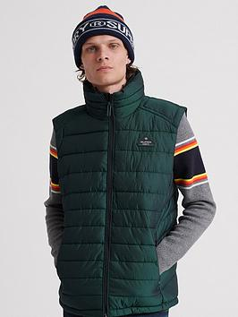 Superdry Superdry Double Zip Fuji Gilet - Green Picture