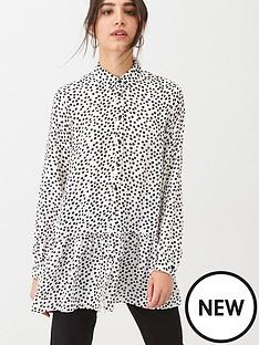 wallis-dalmation-print-tiered-shirt-mono