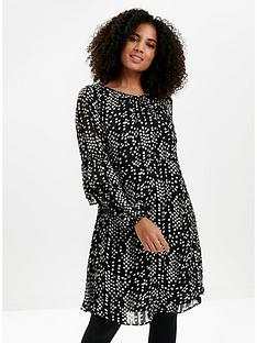 evans-printed-tunic-dress-black
