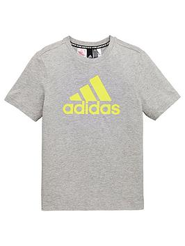 Adidas Adidas Youth Boys Must Haves Badge Of Sport T-Shirt - Medium Grey  ... Picture