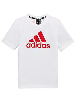 Adidas  Youth Boys Must Have Badge Of Sport T-Shirt - White