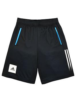 Adidas   Junior Boys Training Aeroready Shorts - Black
