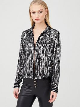 river-island-sequin-long-sleeved-shirt-silver