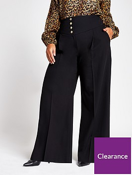 ri-plus-corset-high-waist-wide-leg-trouser-black
