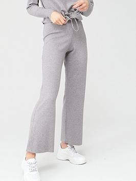 V by Very V By Very Knitted Wide Leg Trousers - Grey Picture