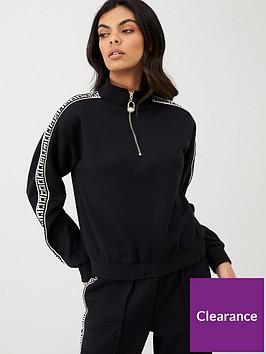 river-island-ri-tape-half-zip-sweat-jacket-black