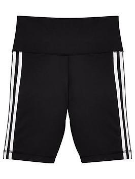 adidas-junior-girlsnbsptrefoil-3nbspstripe-shorts-black