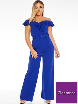 quiz-ruffle-bardot-belted-palazzo-jumpsuit-royal-blue