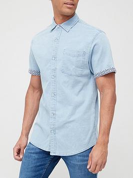 very-man-short-sleevenbspturn-up-print-shirt-denim-blue
