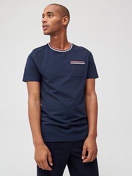 V by Very V By Very Tipped Pocket T-Shirt - Navy