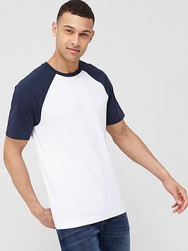 V by Very V By Very Raglan T-Shirt - White/Navy Picture