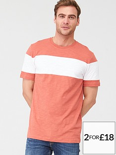 v-by-very-chestnbspslub-t-shirt-coralwhite