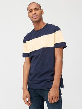 V by Very V By Very Chest Slub T-Shirt - Navy/Coral Picture