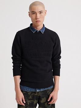 Superdry Superdry Sweat Shirt Shop Embossed Sweatshirt - Black Picture
