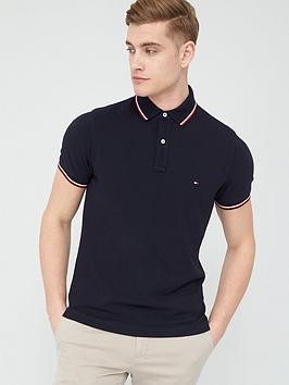 tommy-hilfiger-tipped-slim-fit-polo-shirt-desert-sky-navy