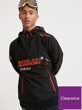 superdry-snow-tech-half-zip-hooded-jacket-black