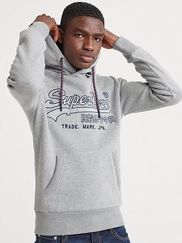 Superdry Superdry Downhill Racer Applique Hoodie - Grey Picture
