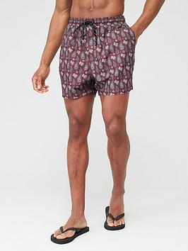 V by Very V By Very Paisley Swimming Shorts - Maroon Picture