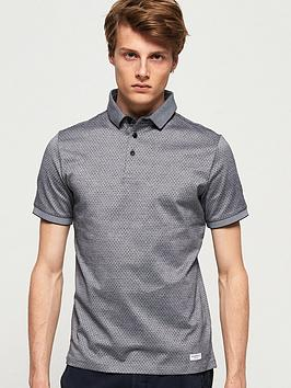 Superdry  Edit Micro City Polo Shirt - Grey
