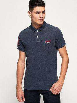 Superdry Classic Pique Short Sleeve Polo Shirt - Navy