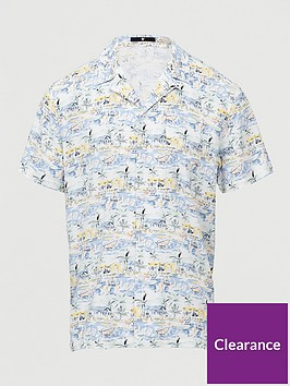 very-man-short-sleeved-beach-scene-printed-revere-shirt-white
