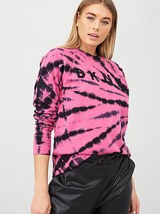dkny-sport-logo-tie-dye-sweatshirt-pink
