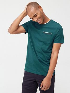 V by Very V By Very Tipped Pocket T-Shirt - Teal Picture