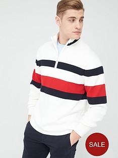 tommy-hilfiger-bold-global-stripe-zip-neck-jumper-ecru
