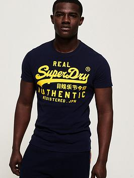 Superdry  Vintage Authentic T-Shirt - Navy