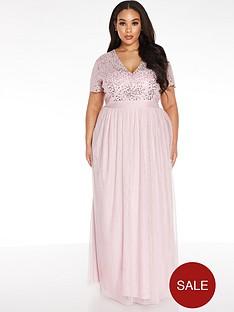 quiz-curve-v-neck-sequin-chiffon-bridesmaid-maxi-dress-blush