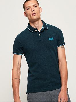 Superdry Superdry Poolside Pique Polo Shirt - Blue Picture