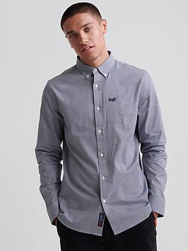 Superdry Superdry Classic London Long Sleeved Shirt - Blue Picture