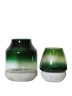 arthouse-set-2-glass-concrete-candle-holders