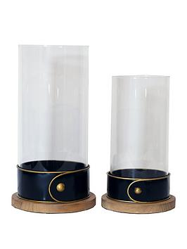 ARTHOUSE Arthouse Set 2 Glass Candle Holders Picture