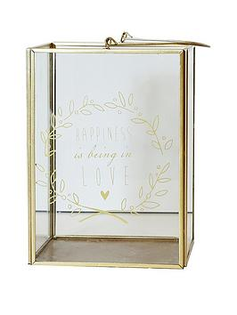 ARTHOUSE  Arthouse Gold Happiness Printed Lantern