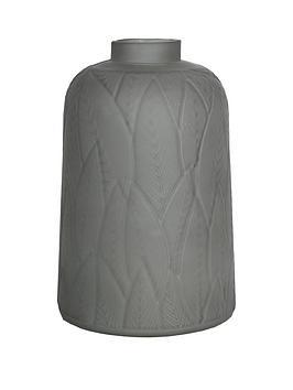 ARTHOUSE  Arthouse Dusky Grey Leaf Vase