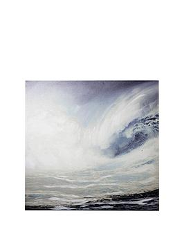 ARTHOUSE Arthouse Handpainted Waves Canvas Picture