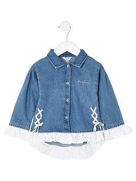 river-island-mini-girls-laced-denim-jacket--nbspblue