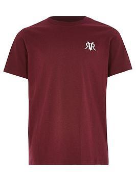 River Island River Island Boys Logo Short Sleeve T-Shirt-Burgandy Picture