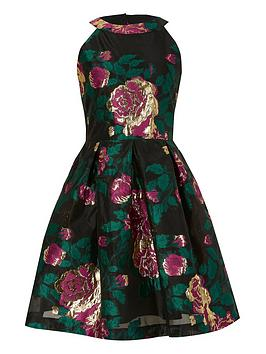 River Island River Island Girls Floral Metalic Prom Dress-Multi Picture