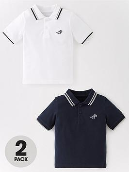 V by Very V By Very Boys 2 Pack Short Sleeve Polo Shirts Picture