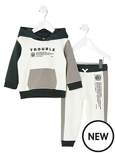 river-island-mini-mini-boys-trouble-hoodie-and-jog-pant-set-white