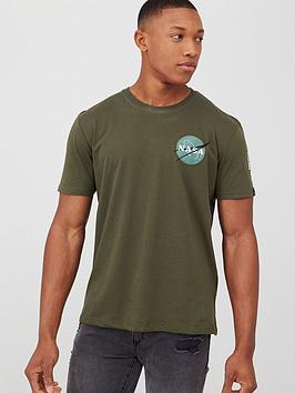 alpha industries Alpha Industries Alpha Industries Space Shuttle Back Print T-Shirt
