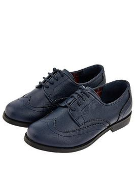 Monsoon Monsoon Boys Oxford Brogue Shoes - Navy Picture