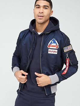 alpha industries  Alpha Industries Ma-1 Lw 2020 Mission To Mars Bomber Jacket - Blue