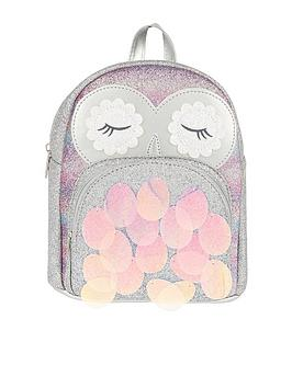 Monsoon Monsoon Girls Disco Owl Backpack - Silver Picture