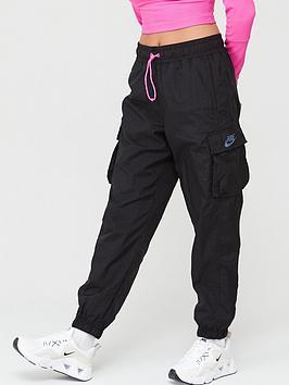 Nike Nike Sportswear Icon Clash Woven Pants - Black Picture