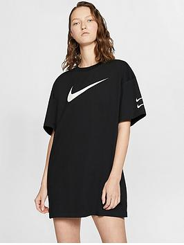 Nike Nike Nsw Swoosh T-Shirt Dress - Black Picture